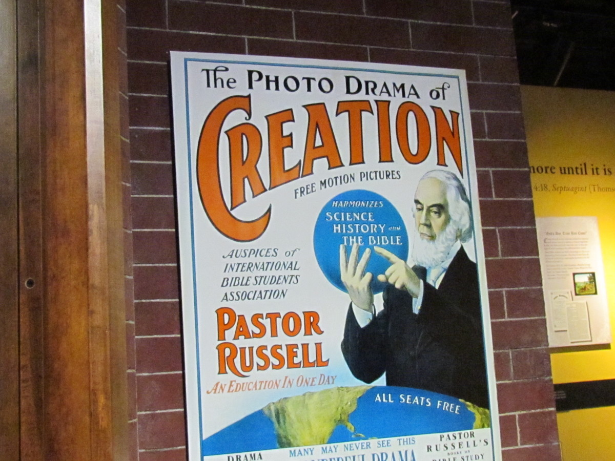 """During the display we toured in Brooklyn, a """"Photo-Drama of Creation' combined motion pictures with sound. This striking presentation took the audience from the time of creation to the end of the Millennium.'"""" It reached millions worldwide in 1914."""