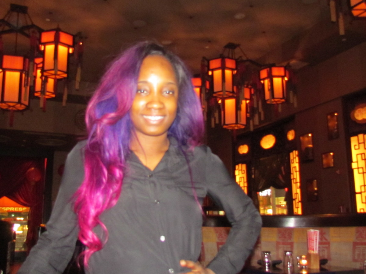 Our waitress Zana at Ruby Foo's had auditioned for Motown The Musical. She is an aspiring actress waiting to be discovered.