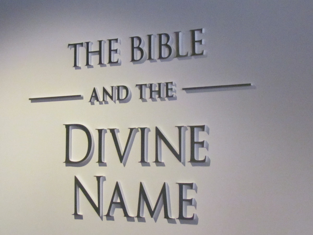 """The display at the Watchtower's Brooklyn headquarters is called, """"The Bible and the Divine Name. It was awe inspiring."""