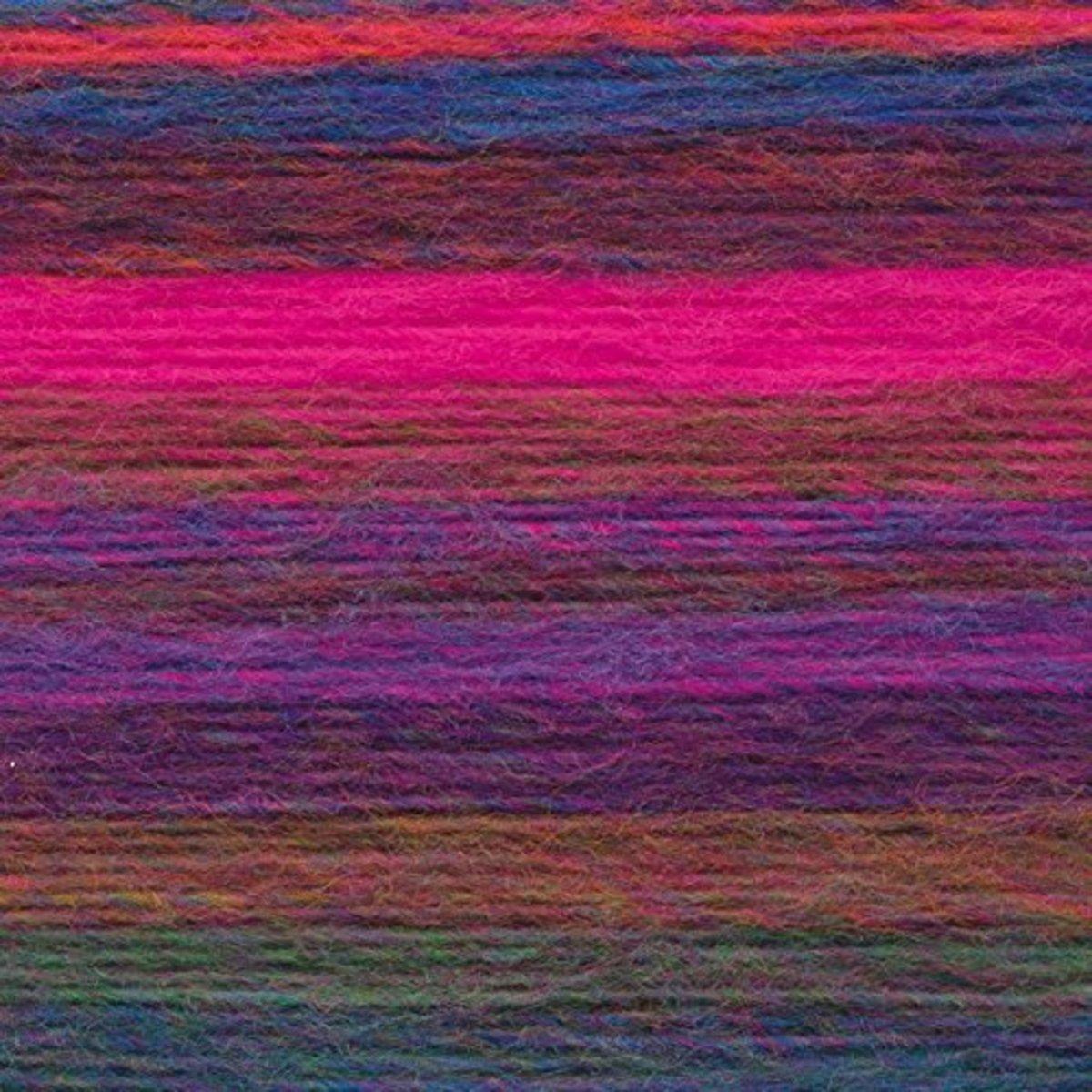 Variegated color change yarn pinks purples