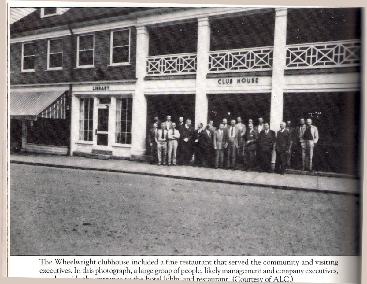 The clubhouse as it was.