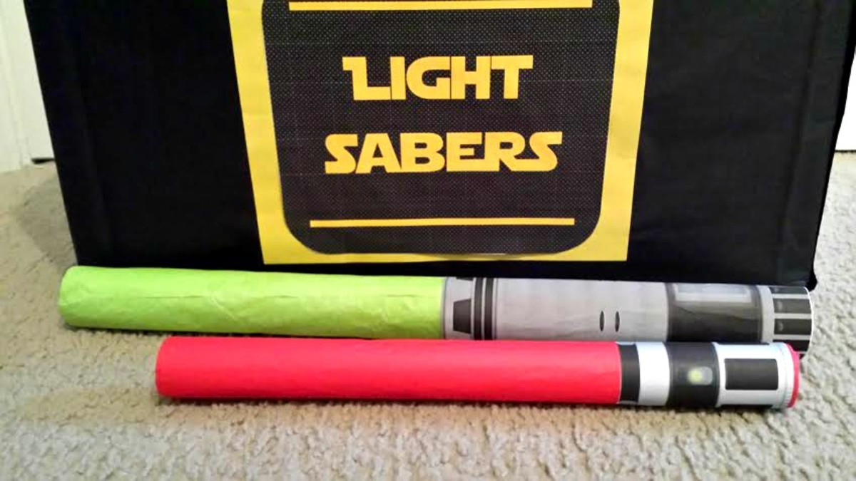 Make your own lightsabers for the kids.