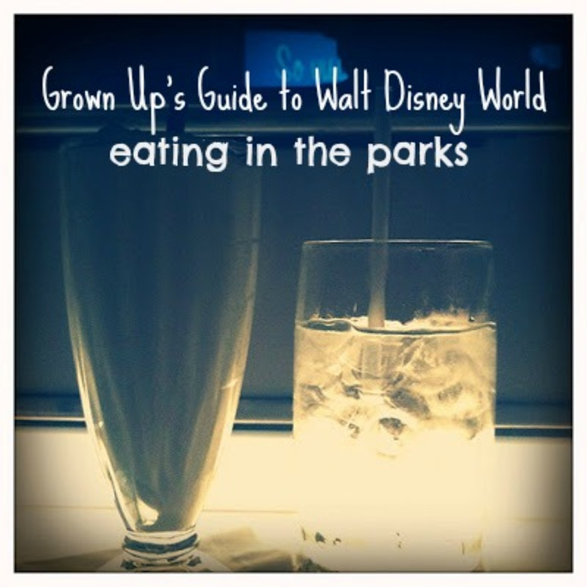 Grown Up's Guide to Walt Disney World - Eating in the Parks