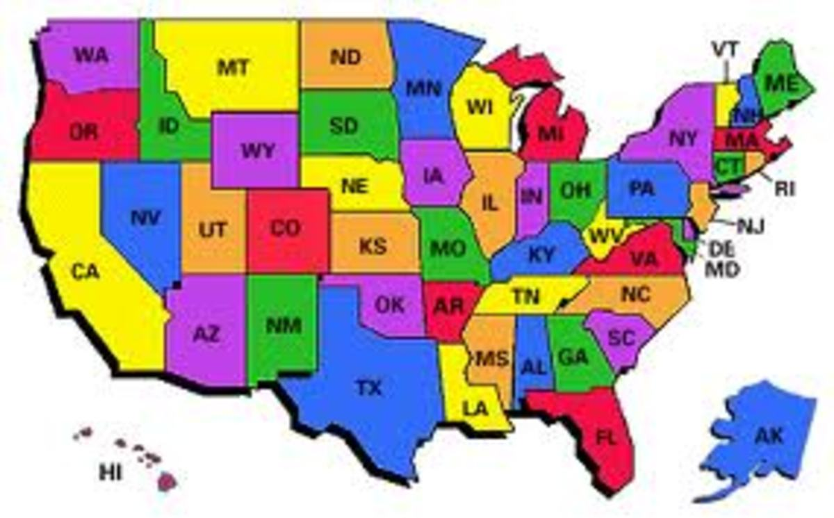 Abbreviations of 52 States in America | HubPages on