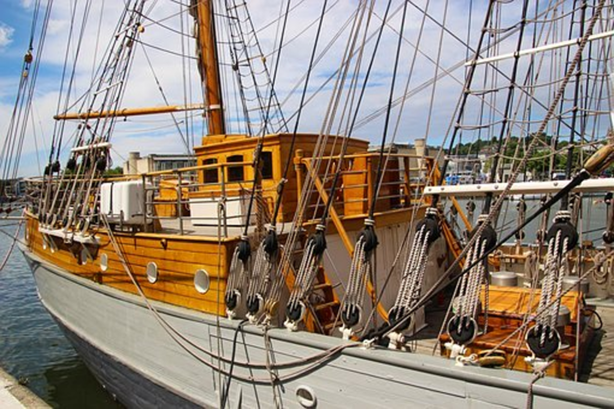 "With a myriad of ropes aboard a sailing ship, it certainly pays to ""know the ropes"""
