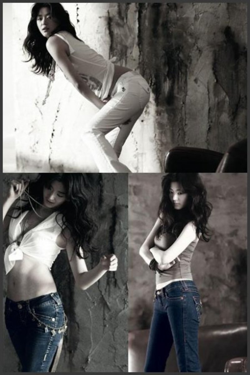 Jun Ji-Hyun Ad for True Religion Jeans
