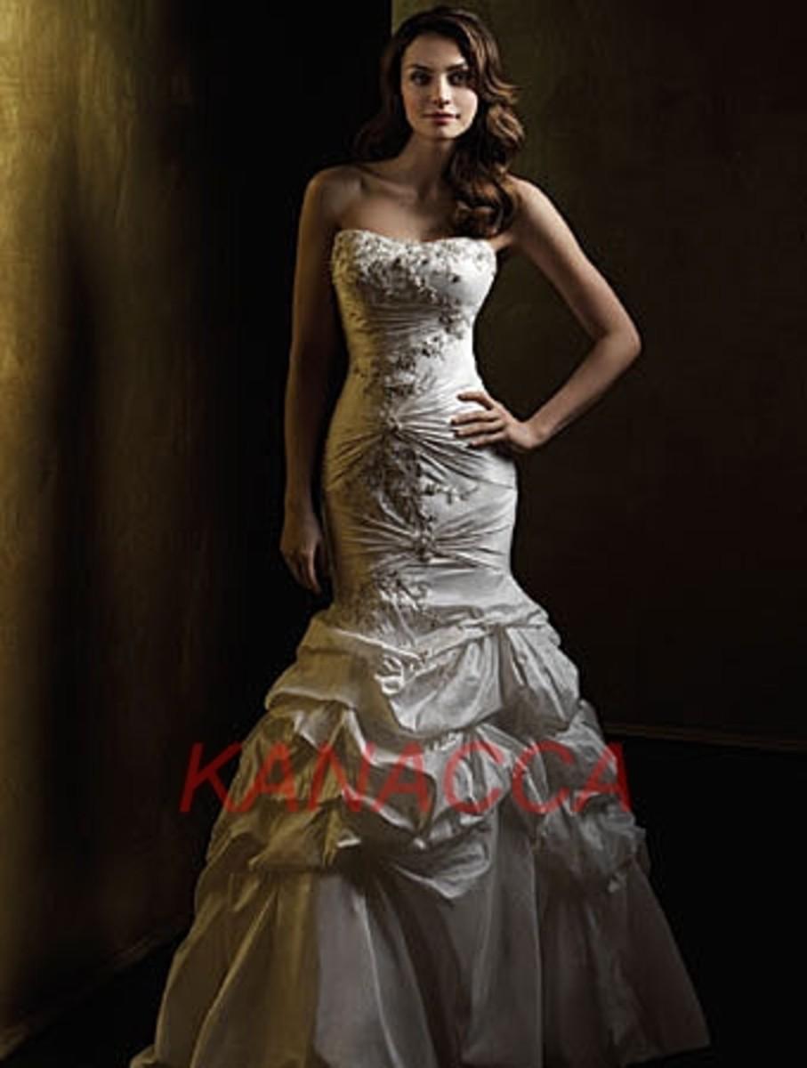 Mermaid Style Wedding Dress Alfred Bridal gowns www.ubrides.com