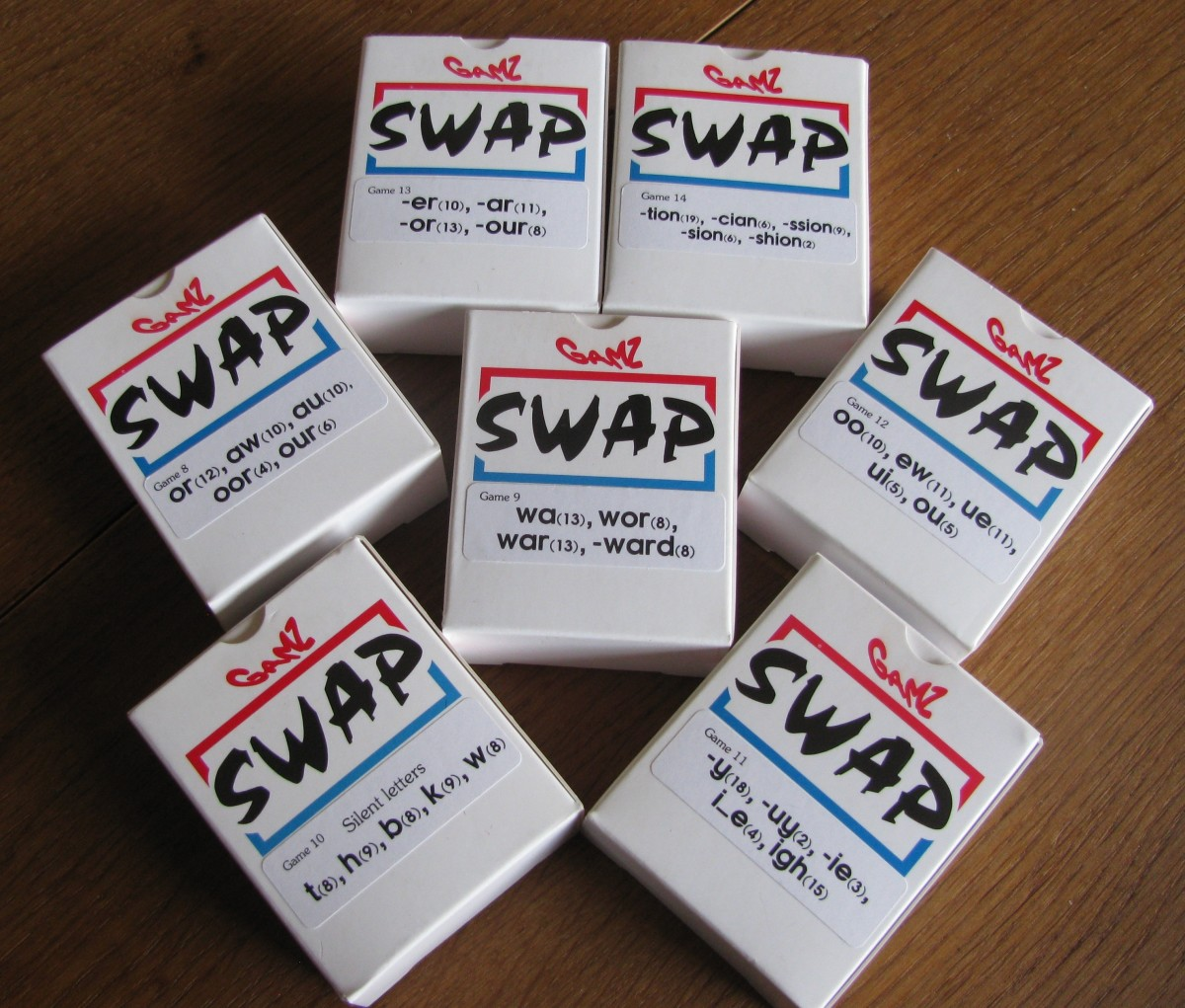 More of the 'SWAP' games; there are many sets on offer, to suit progressive abilities