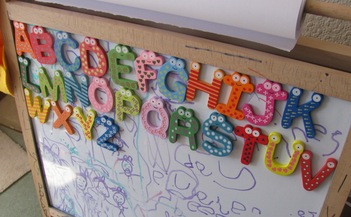 Make the alphabet fun with the magnetic letters