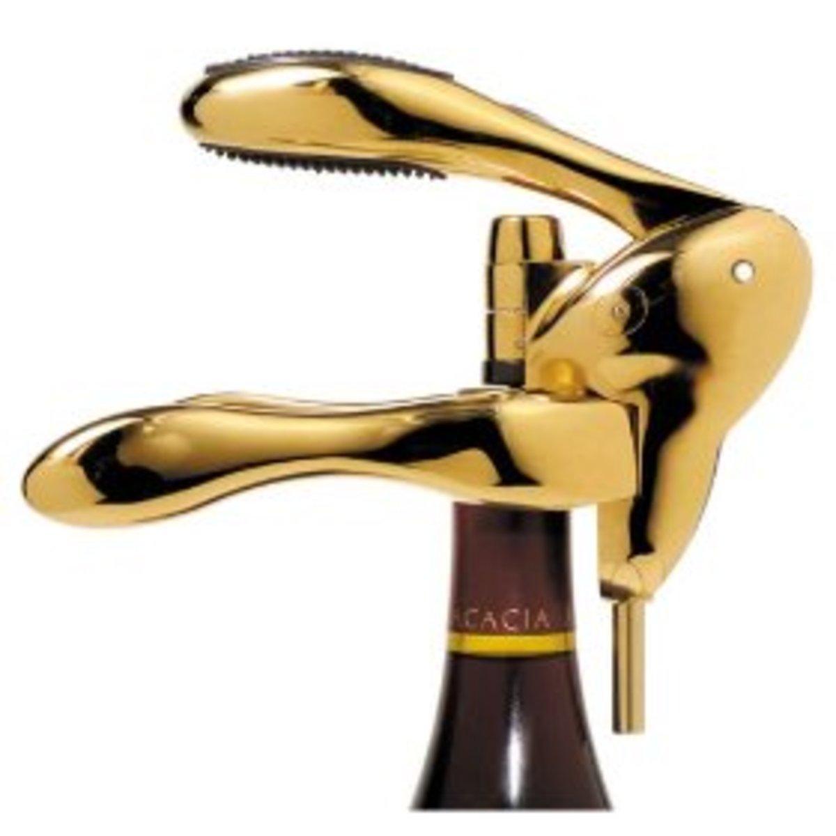 Screwpull lever corkscrew