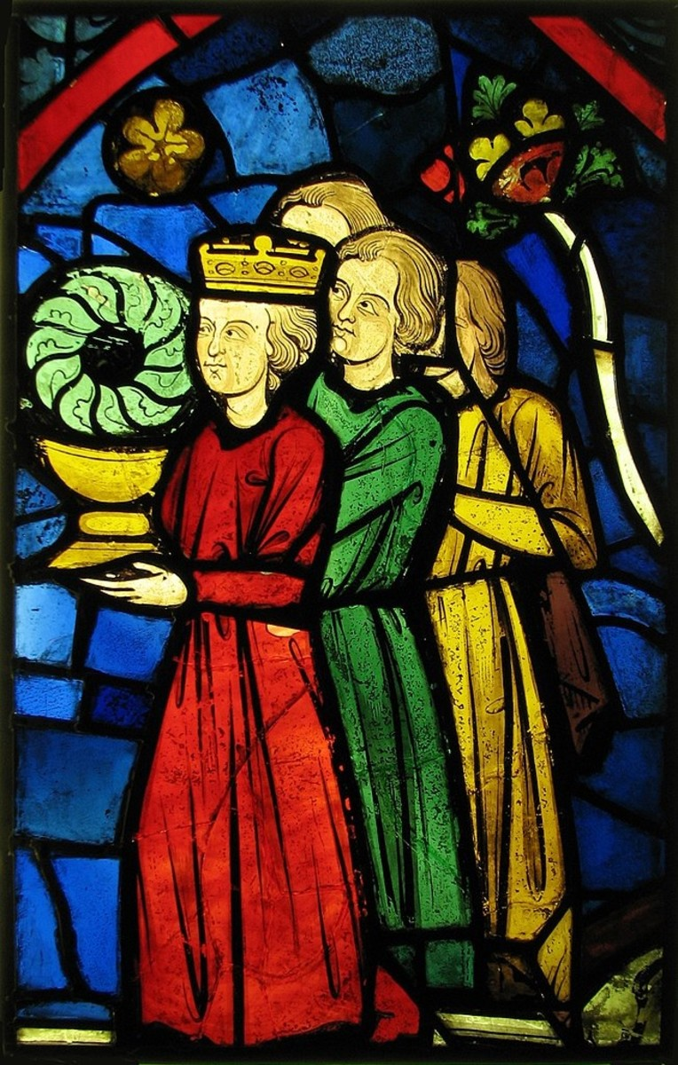 'King Louis IX Carrying the crown of thorns'
