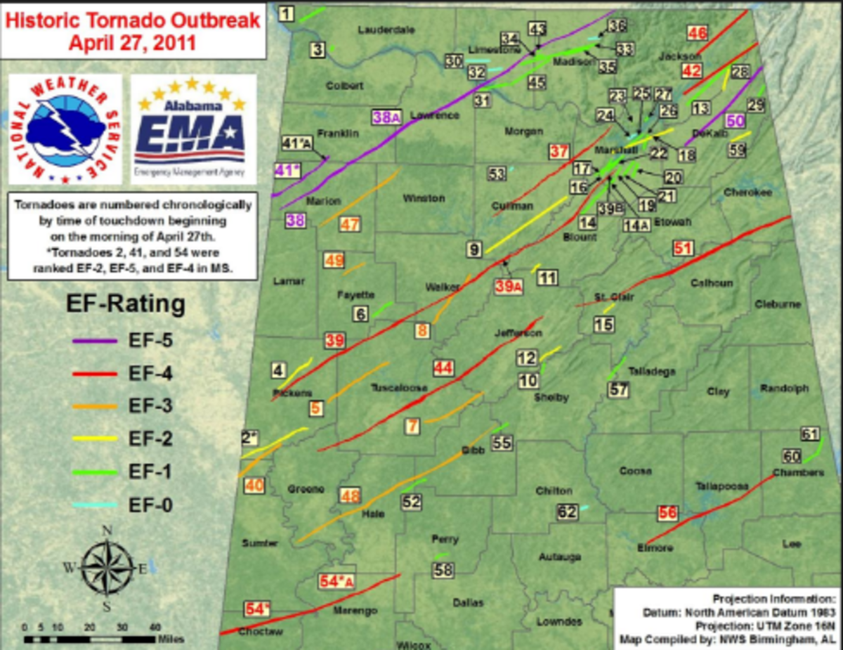 The largest tornado outbreak of our generation happened on April 27, 2011. I was here when it happened.