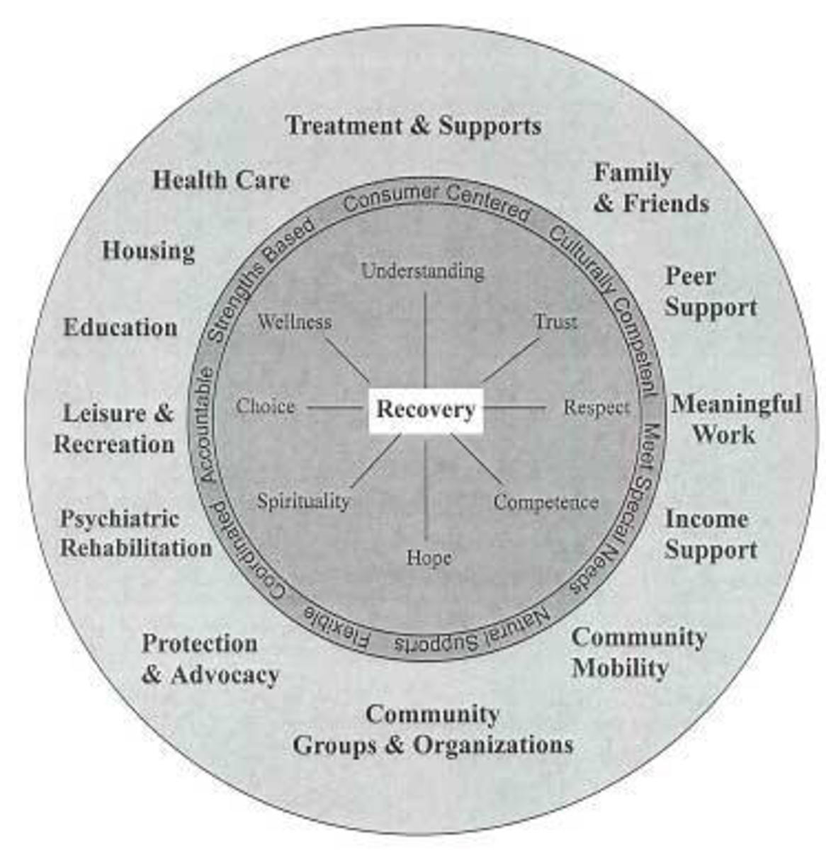 Some Ingredients of the Recovery Model