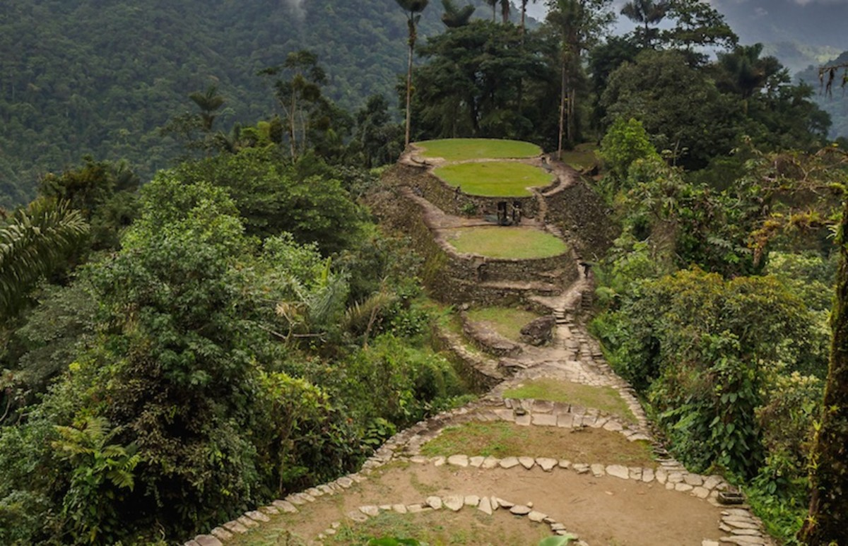 Lost city of Perdida in Colombia
