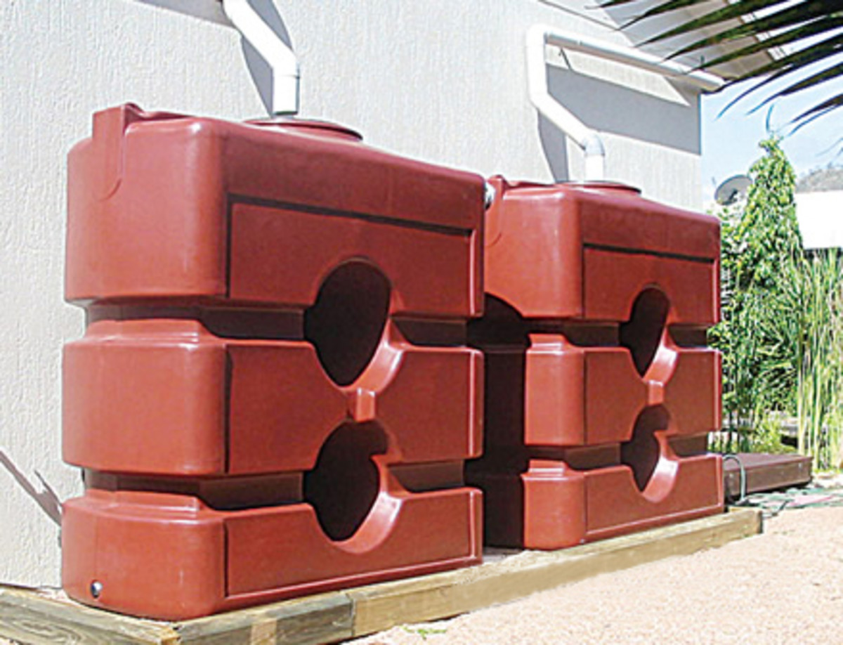 Storage Water Tanks can be slim line and used as walls or fences!