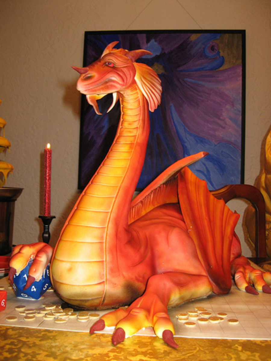 How to Make Dragon Birthday Cakes