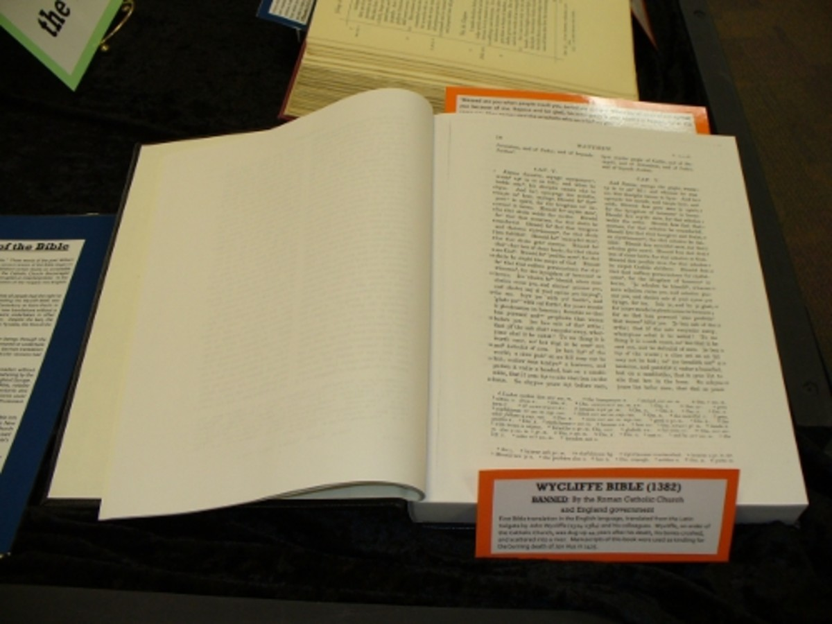 THE WYCLIFFE BIBLE OF 1382 ON DISPLAY