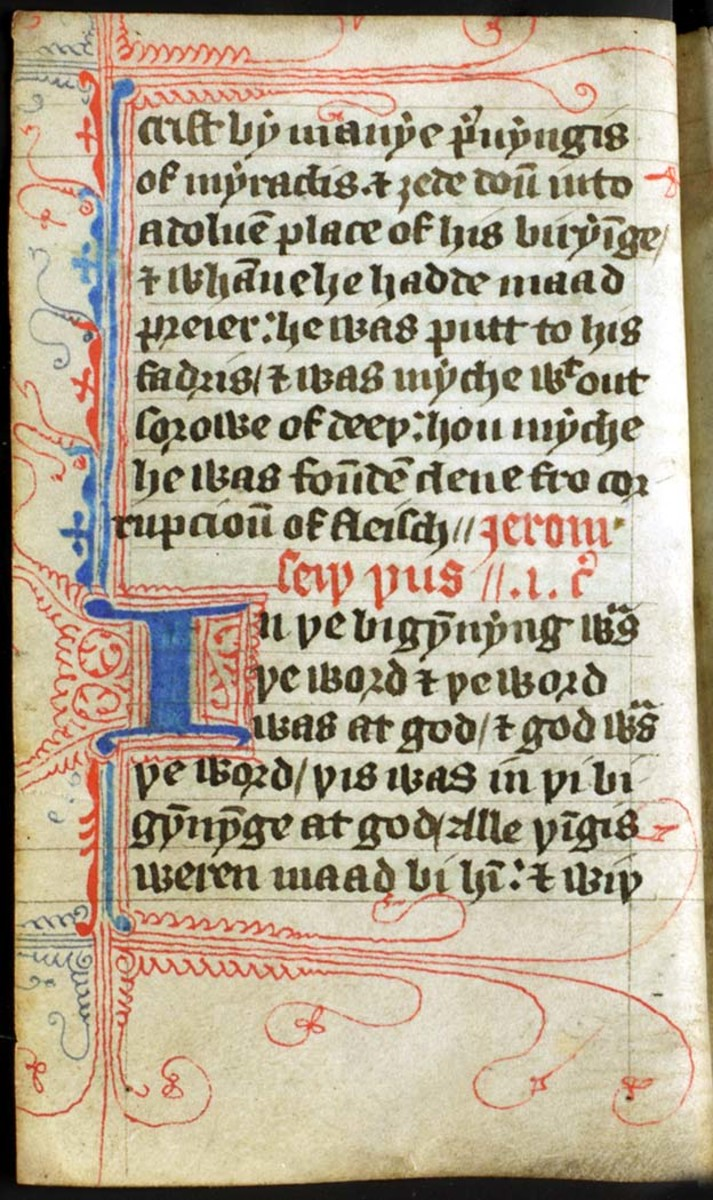 PART OF THE GOSPELS FROM THE WYCLIFFE BIBLE