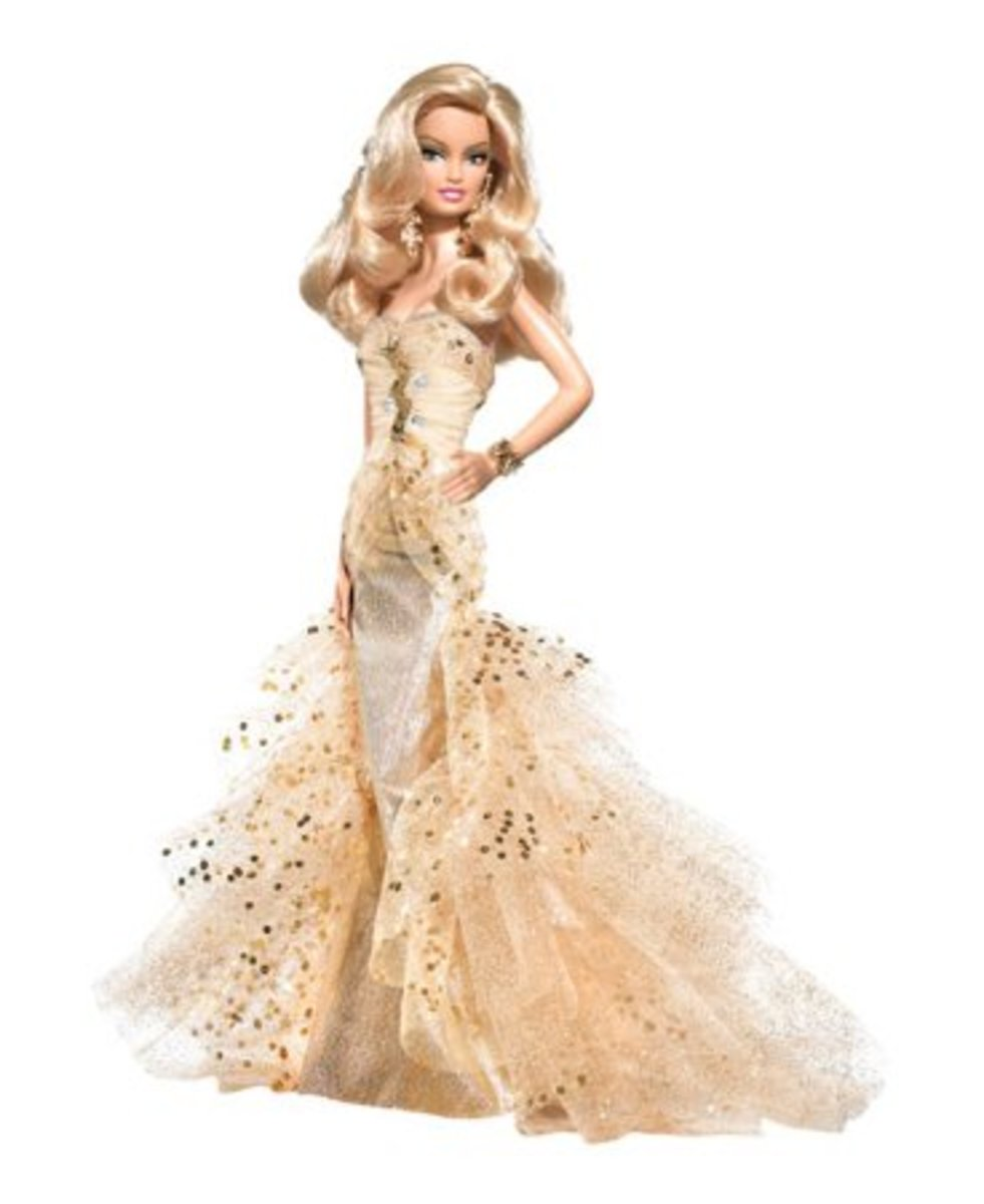 Toys great gifts barbie doll gold platinum label and wedding and