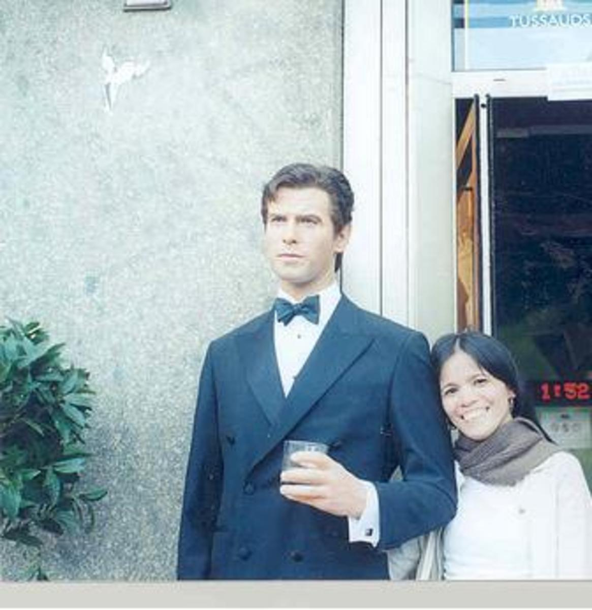 Me and Pierce Brosnan in Netherlands Madame Tussaud Wax Museum