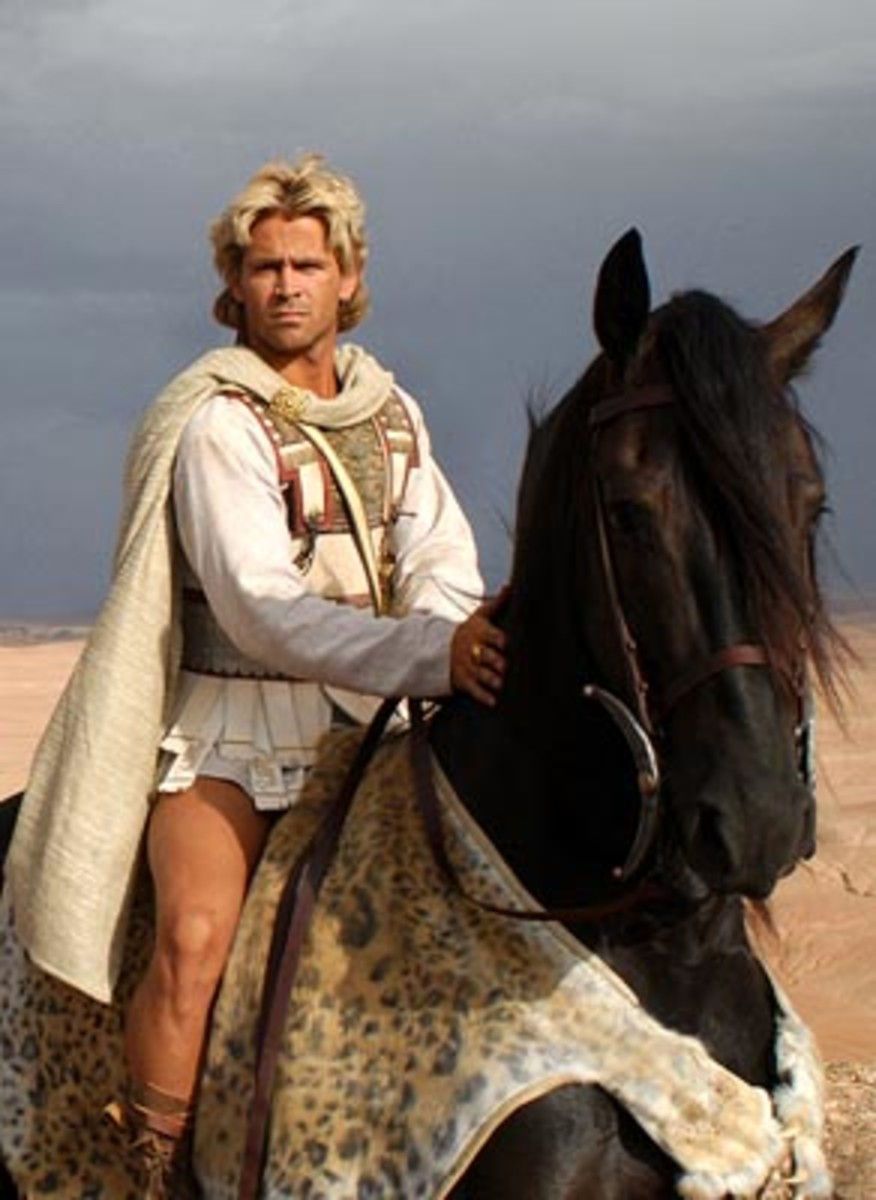 Colin Farrell as ALEXANDER the GREAT in the said movie