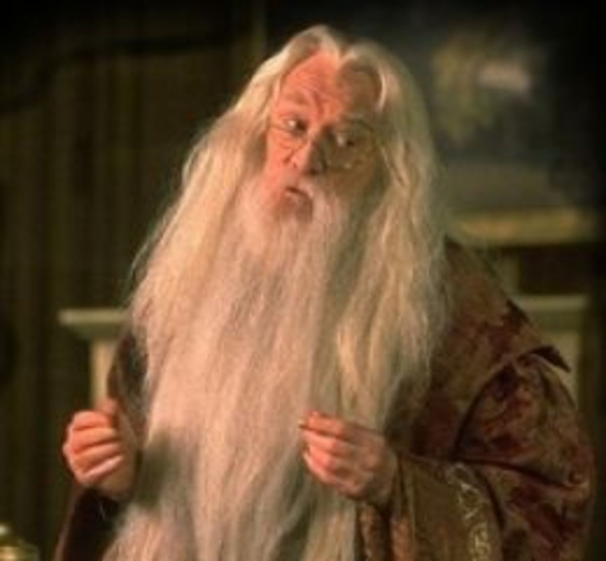 Richard Harris as Albus Dumbledore in the series Harry Potter