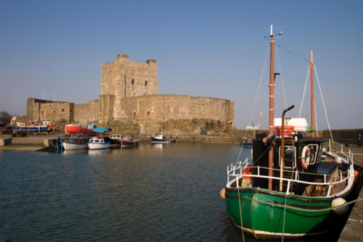 Carrickfergus Castle from the seaward side - phtot credit: planetware.com