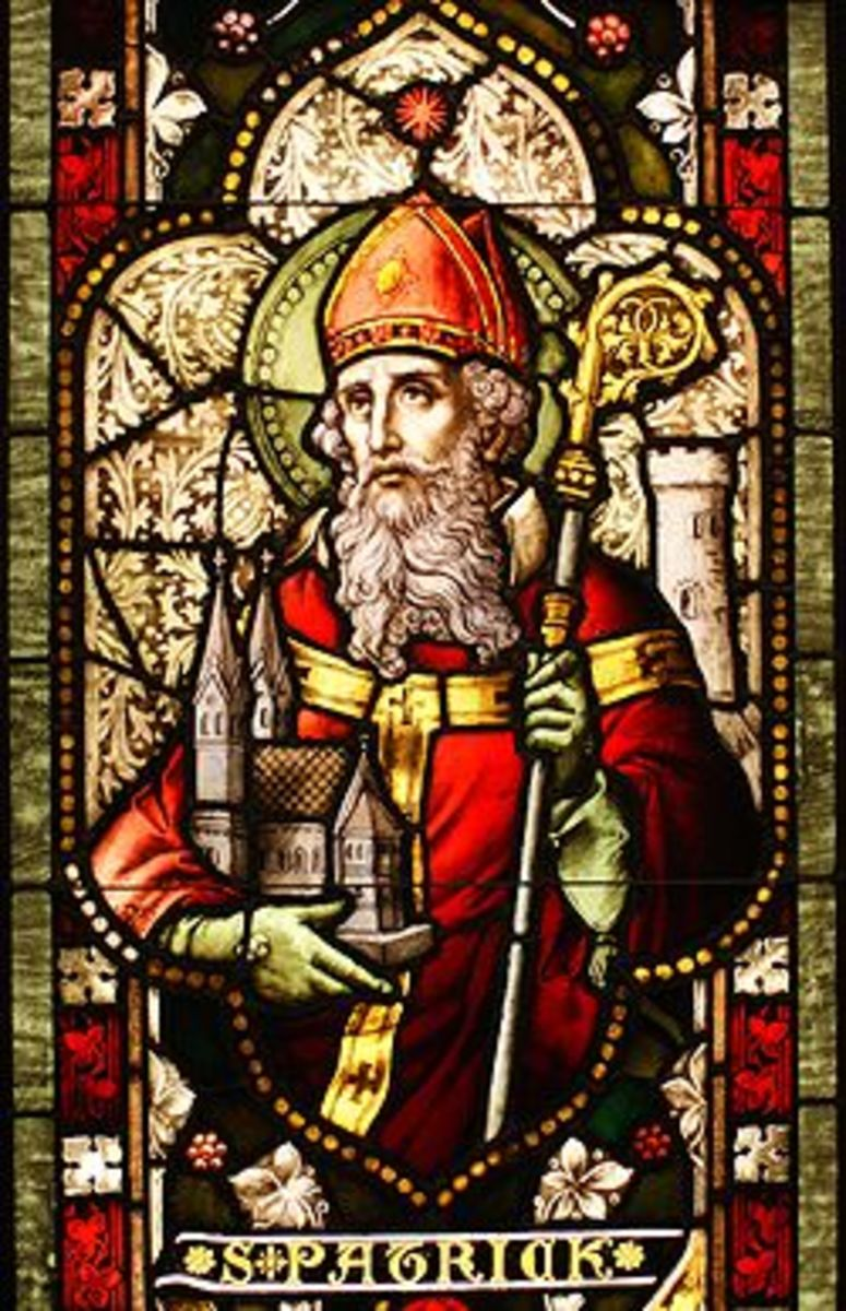 St Patrick -- the prominent saint of IRELAND