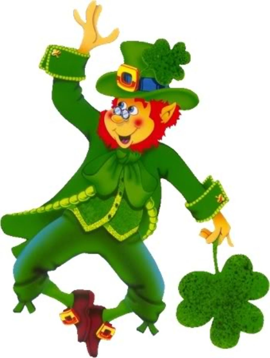 Leprechaun with shamrock
