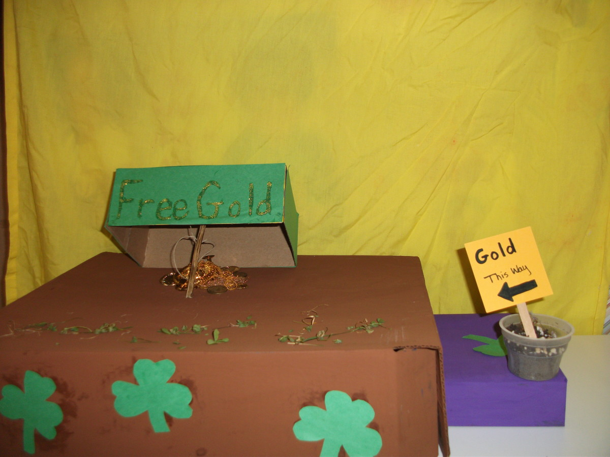 Gold is used as bait to lure the leprechaun into the trap.