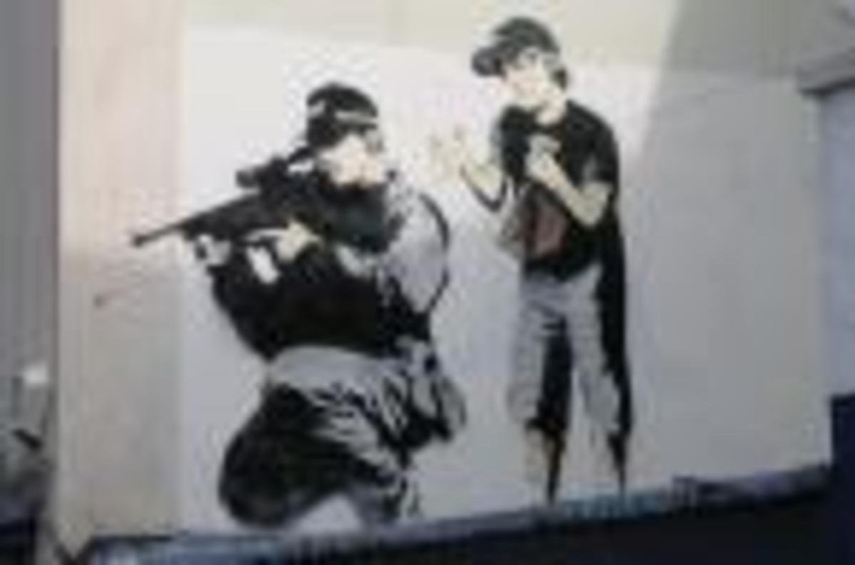 Banksy's paintings are thought provoking and often carry complex social issues in simple to understand images
