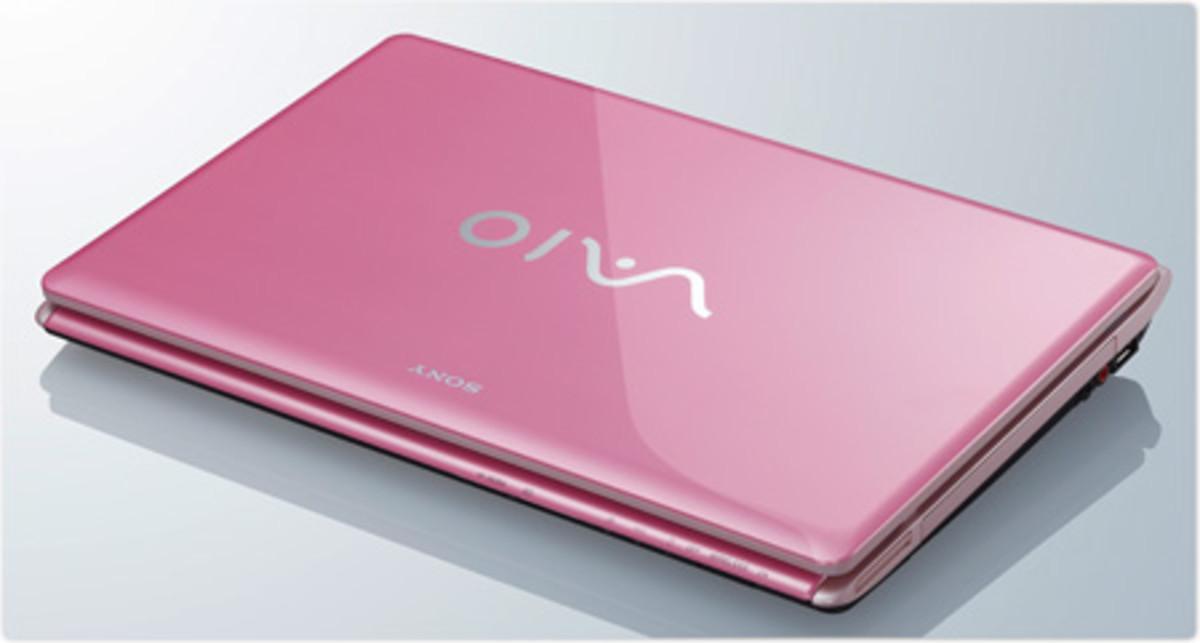 Pink Laptop Computer
