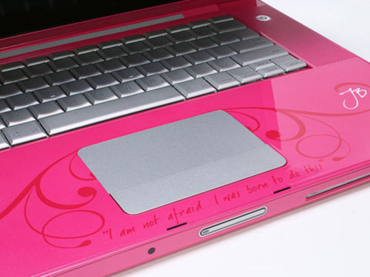 Pink Apple Macbook
