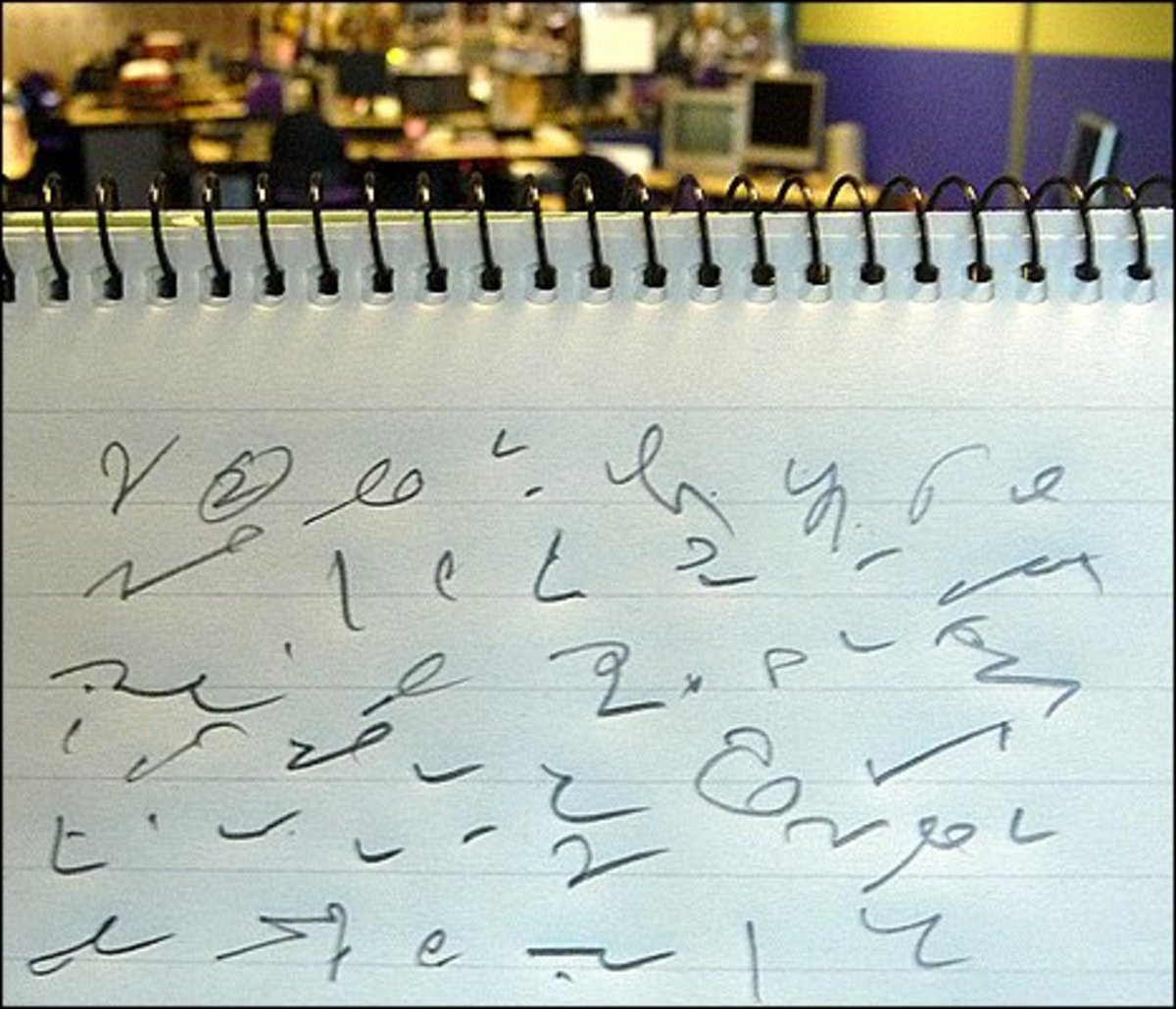 learn to write shorthand All the older male clerks at that time had been required to learn shorthand and used to write their letters in shorthand for the girls in the typing pool to translate i agree learning shorthand is a sign of commitment.