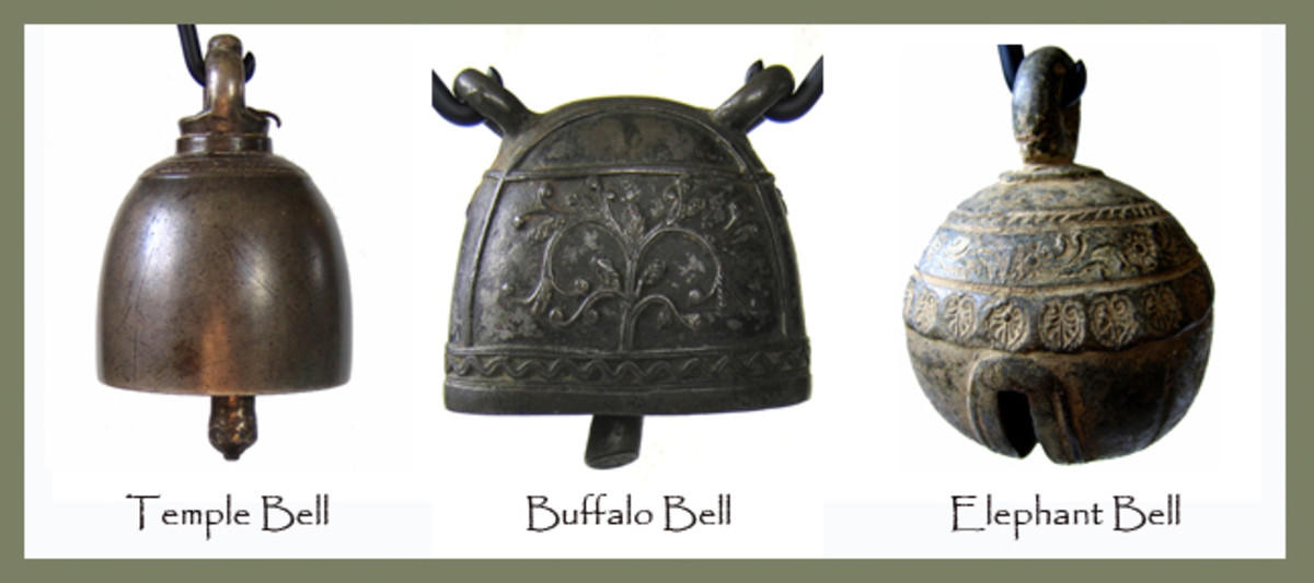 Antique Bronze Bells Burma