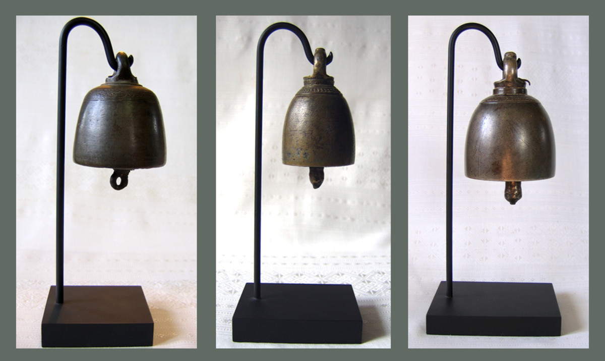 Antique Bronze Temple Bells