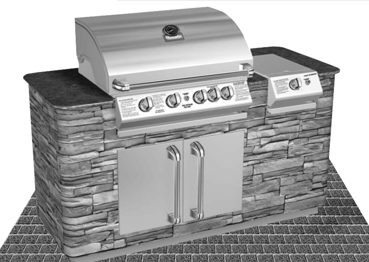 Although lately Charmglow and Brinkmann have been selling grill island accessories and we built a lot of outdoor kitchen, we use products with more selections.