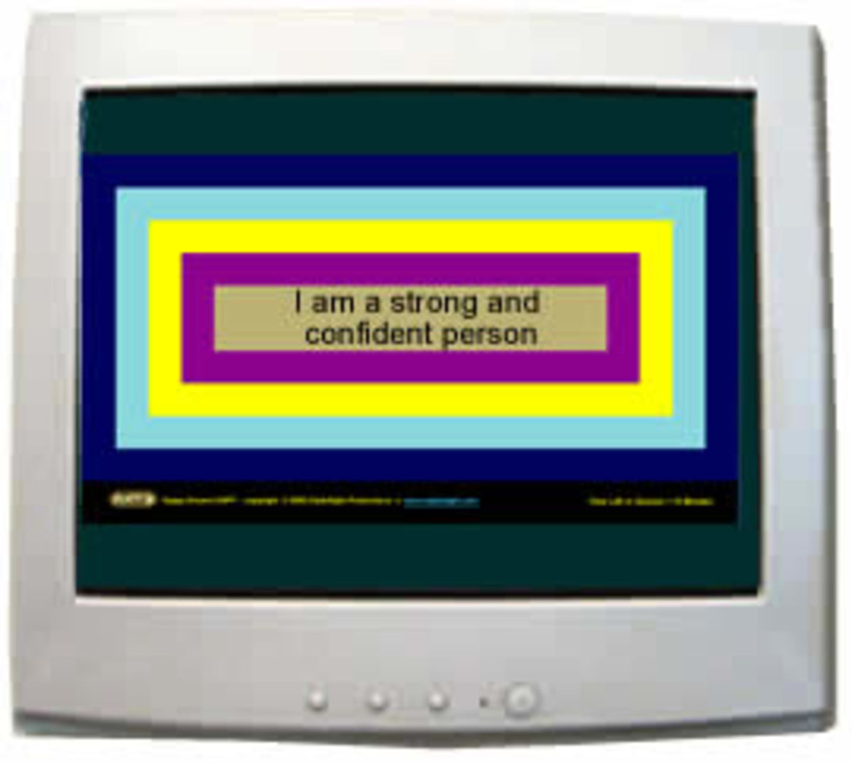 A subliminal message software session - courtesy of ClydeSight Productions