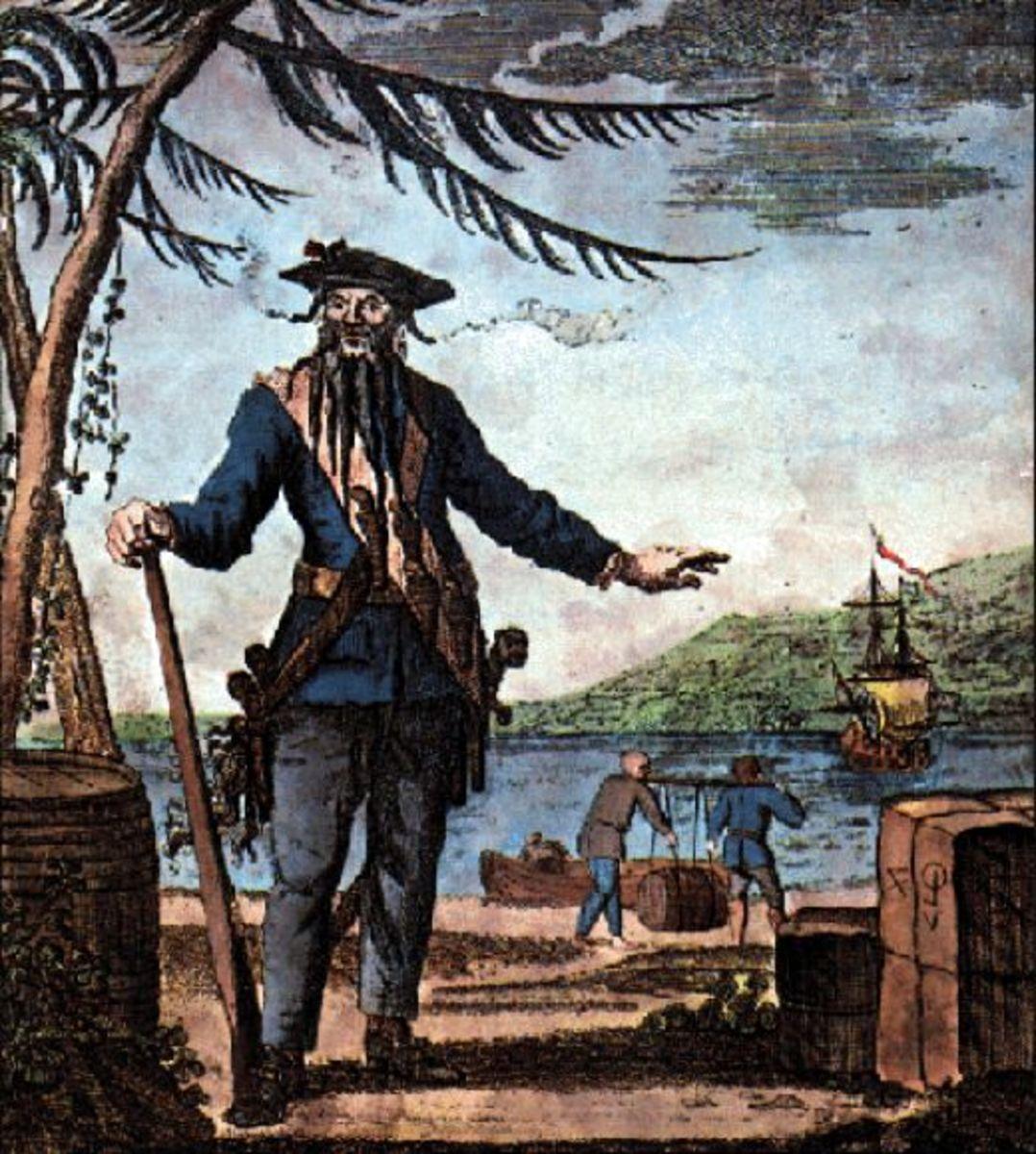 Ocracoke Island and especially the beach area near the lighthouse was a favorite area of Blackbeard's
