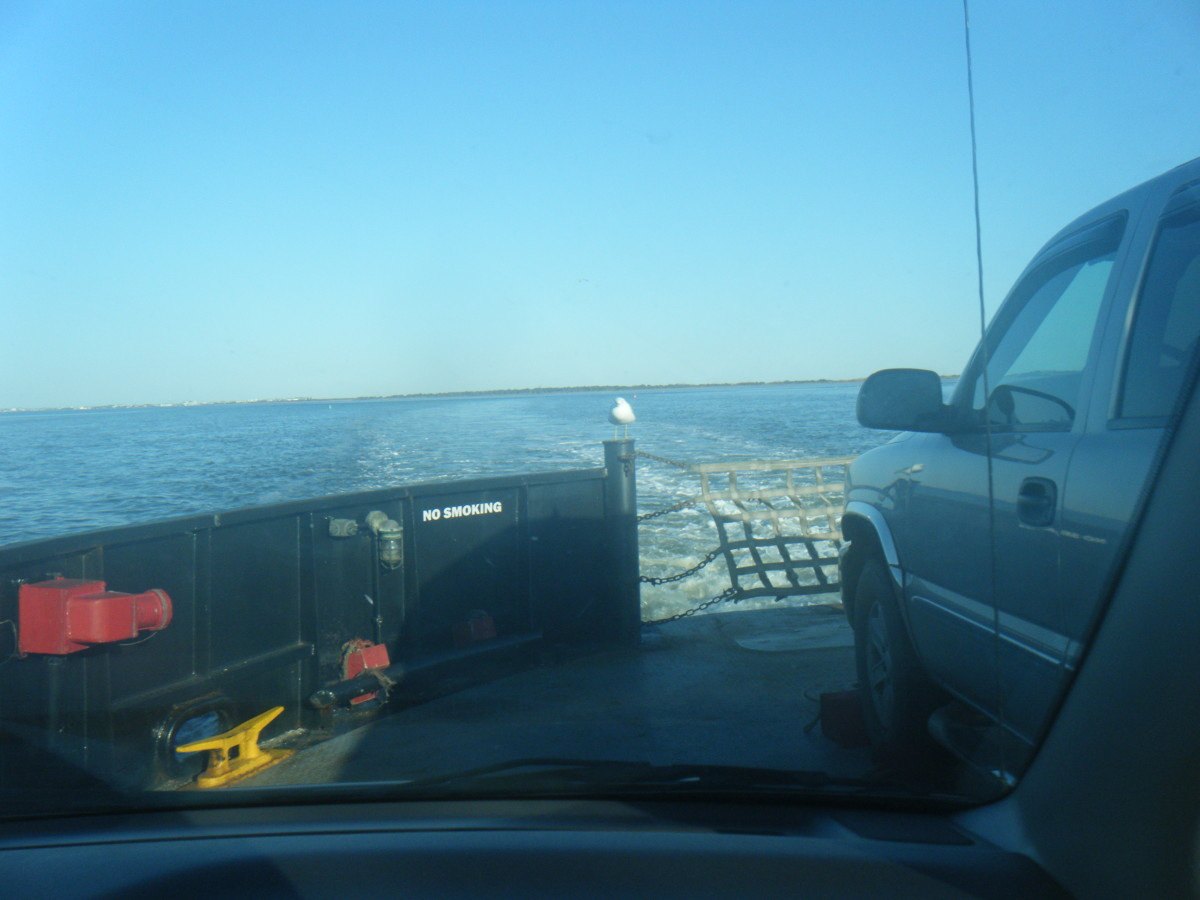 It really is an interesting ride on the ferry going over to Ocracoke Island. In fact some people think the free ferry rides are wonderful.