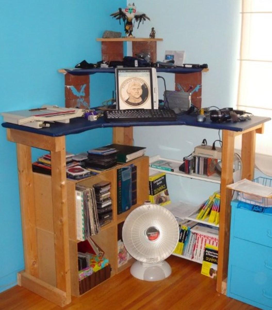 Corner Stand Up Desk