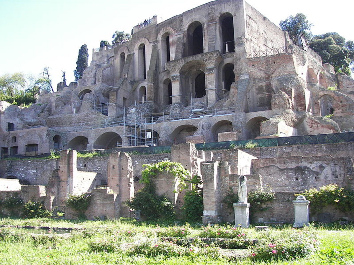 Remains of the House of the Vestal Virgins in the Forum Romanum.