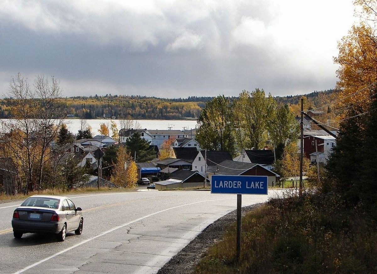 The Kerr-Addison mine site is located about 30 km east of Kirkland Lake, Ontario near Larder Lake.
