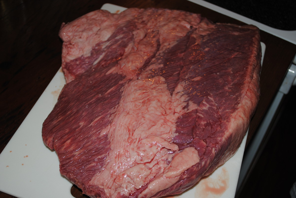 The underside of the same brisket, untrimmed. This just shows which side is the top and which is the bottom.