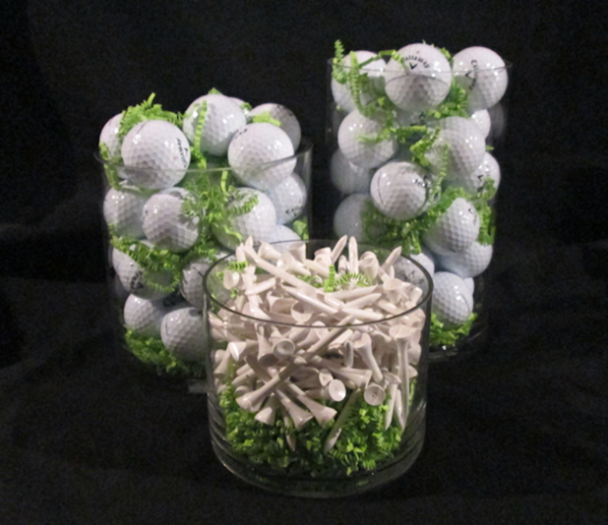 How to make a centerpiece for a golf themed party for Golf centerpiece ideas