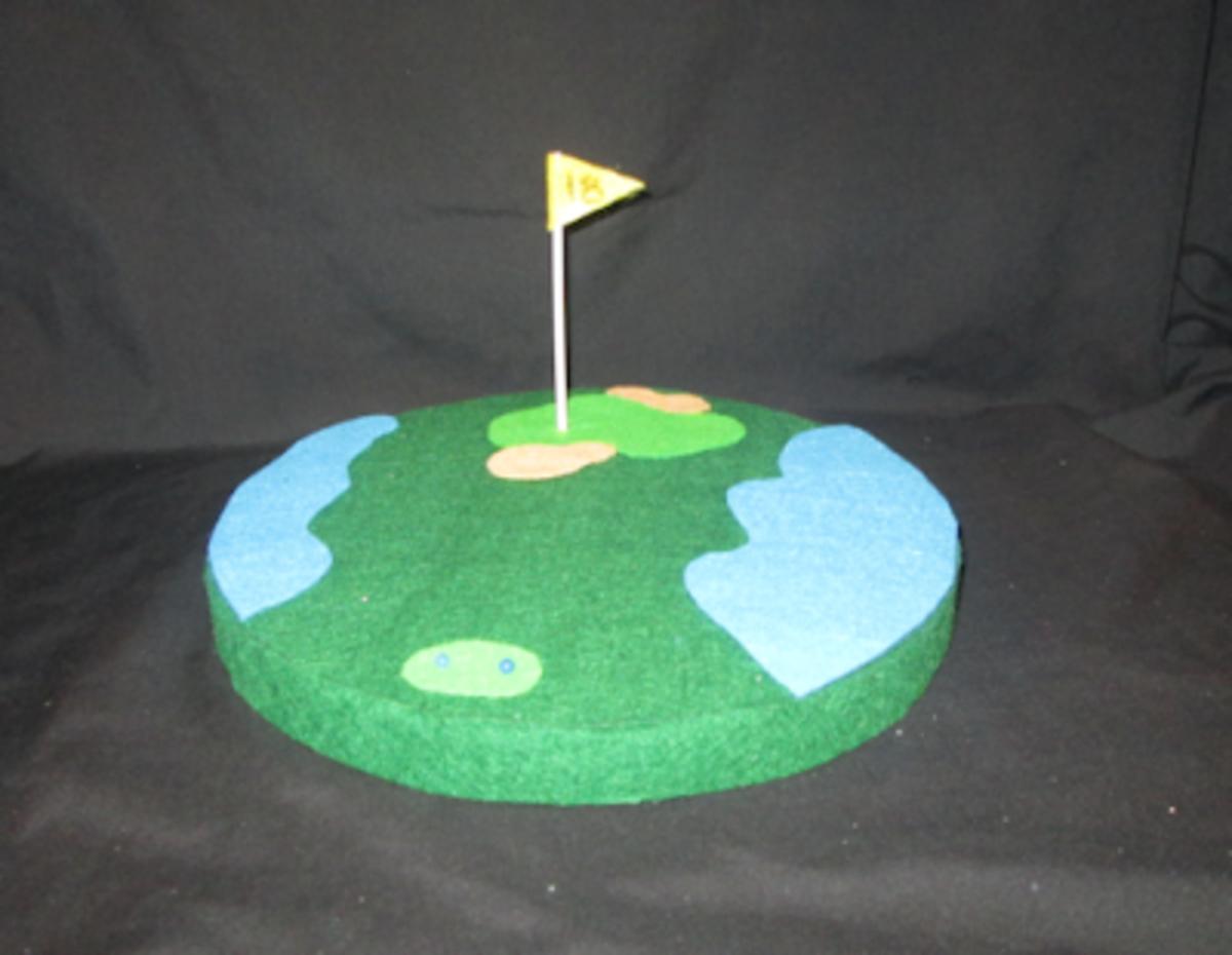 Golf Hole Centerpiece Craft