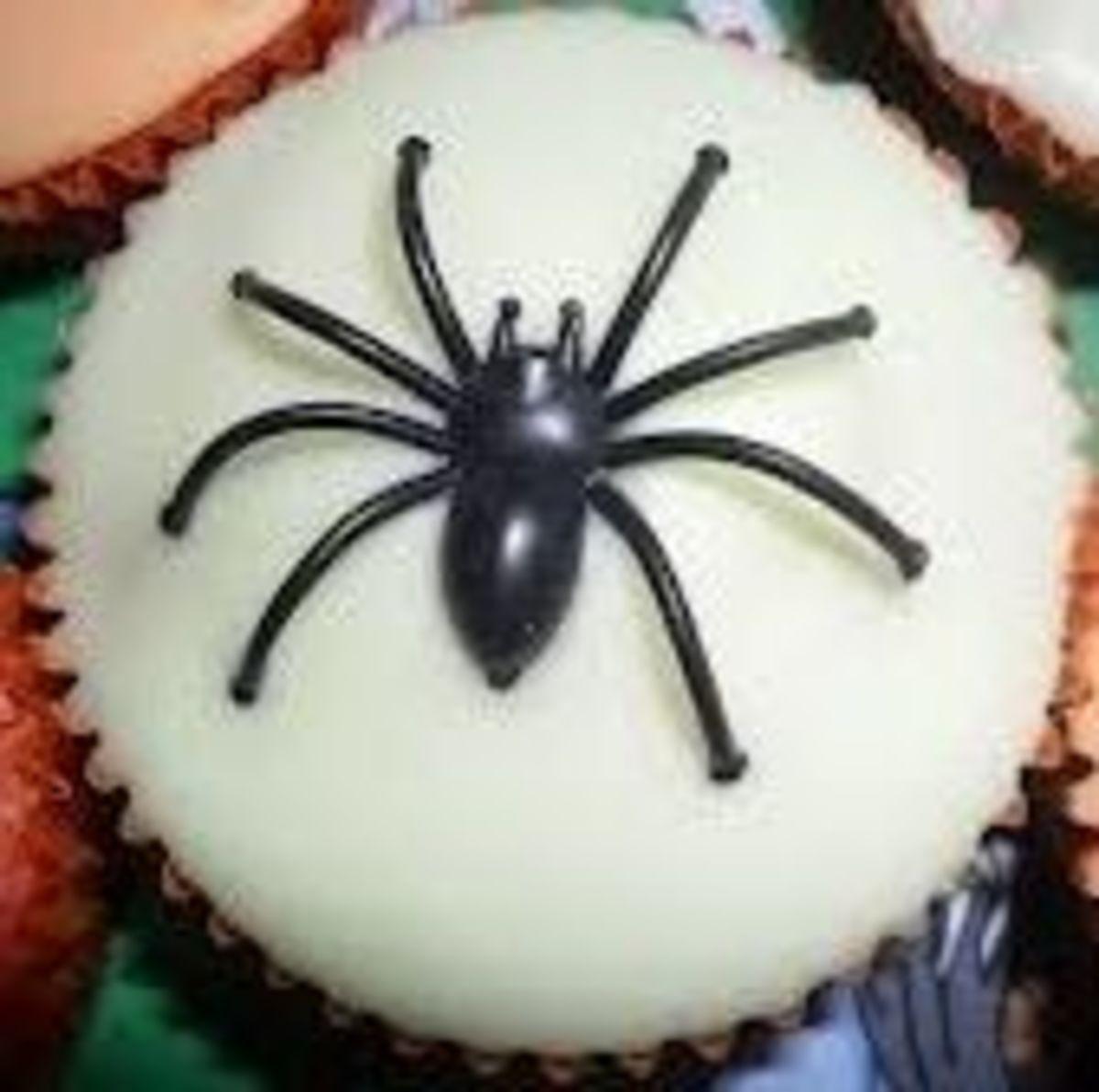 spider fairy cake