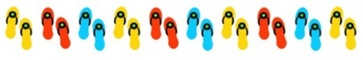 Summer Flip Flops Clip Art Border