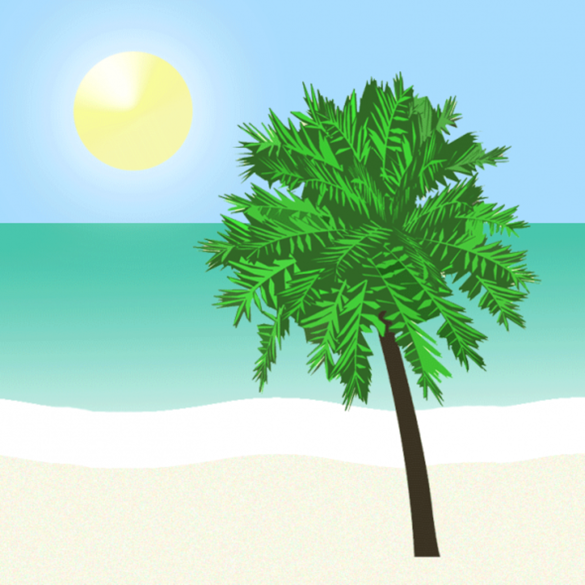 Beach Palm Tree Clipart
