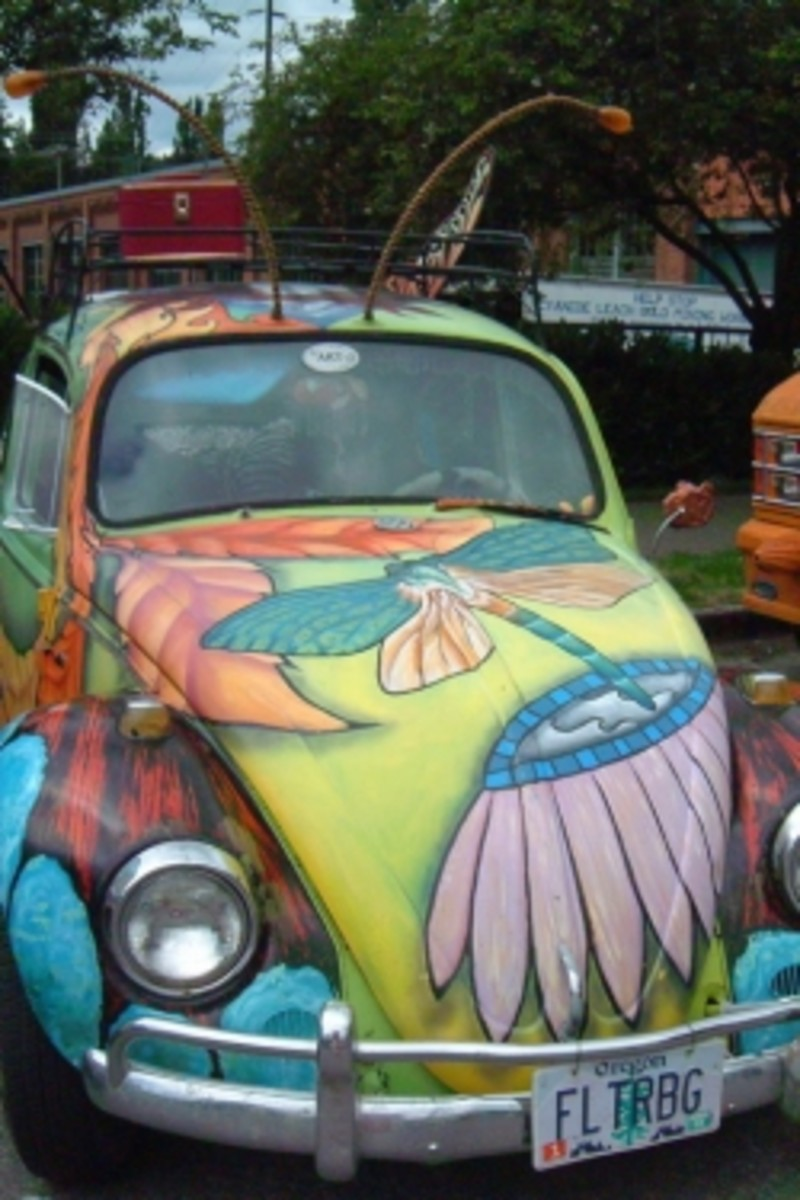 The beautiful Fluttrby shows how fantastically a VW bug works for art.